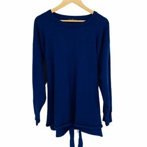 Amaryllis Tie-Front Navy Heavy Weight Sweater